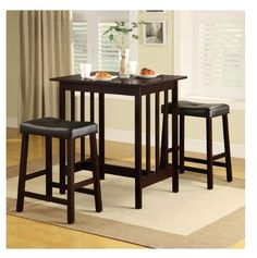 Height Dining Table 3 Piece Set Counter Bar Pub Breakfast Kitchen Home Furniture #HeightDiningTable
