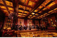 Our Muse - Opulent Burgundy Wedding - Be inspired by Van & John's opulent, burgundy wedding at the University Club of Chicago - university club of chicago, table, decor, unique, ceci new york, menu, favor tag, burgundy, brown, natural, wedding, chicago, centerpiece, terrarium