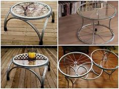 Amazing Coffee Tables Made With Bicycle Wheels And Hoops. #Home #Garden #Musely #Tip