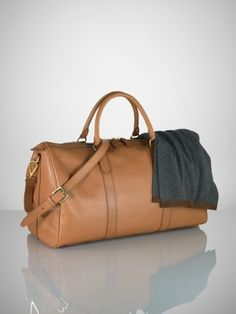 Gents Leather Duffel Bag - Ralph Lauren Bags   Business Accessories -  RalphLauren.com 4aee1097c5abd