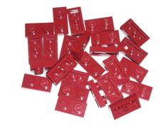 LEGO 25 Dark Red Plates 1 x 2 75052 #LEGO