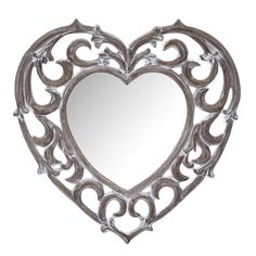The cute, heart-shaped looking glass of this Vintage Heart Mirror is surrounded by Baroque-inspired swirls in a rustic wood effect Heart Mirror, Heart Wall, Mirror Mirror, Mirror The Range, Mirror Wall Collage, Dressing Table Mirror, Beautiful Mirrors, Swirl Pattern, Vintage Heart