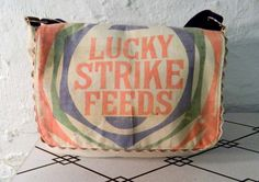 Lucky Strike Feeds Messenger by ObjetAdapte on Etsy, $120.00