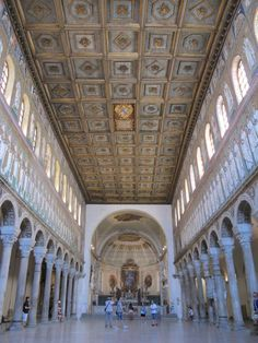 """Inside the cavernous Basilica di S. Apollinare Nuovo - """"The wonders of Ravenna"""" by @Keith Jenkins"""