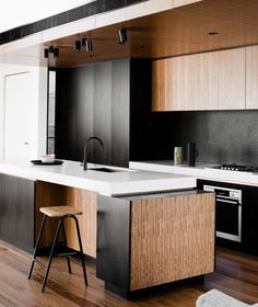 Kitchen | Phoenix Tapware | matte black sink tap | Photo Credit: FIGR Architecture & Design