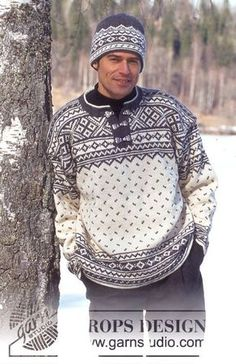 DROPS – DROPS Sweater for men in Karisma Superwash – Free pattern by DROPS Design – Knitting patterns, knitting designs, knitting for beginners. Fair Isle Knitting Patterns, Christmas Knitting Patterns, Sweater Knitting Patterns, Free Knitting, Crochet Patterns, Mens Knit Sweater Pattern, Jumper Patterns, Men Sweater, Nordic Pullover