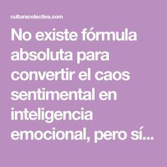 a84634f31b No existe fórmula absoluta para convertir el caos sentimental en  inteligencia emocional