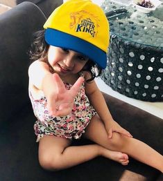Ziva Dhoni dons Chennai Super Kings cap to support her dad MS Dhoni - Funny Baby Faces, Funny Babies, Funny Kids, Ms Dhoni Wife, Ziva Dhoni, Dhoni Captaincy, Ms Dhoni Wallpapers, Ms Dhoni Photos, Funny Mom Memes