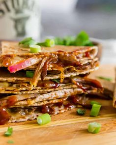 This brisket quesadilla is the ultimate way to use up brisket leftovers. Melted cheddar, red onions and smoky BBQ sauce are stuffed in a brisket filled tortilla with crispy edges and a gooey delicious center.