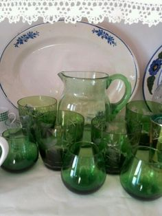 Ceramica y juego de agua de cristal