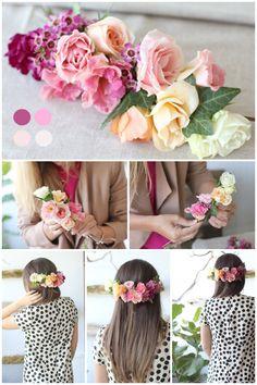 DIY Ombre Floral Hair Piece   DIY Diaries   Florals & Styling: Sweet Woodruff   stephaniesterjovski.com