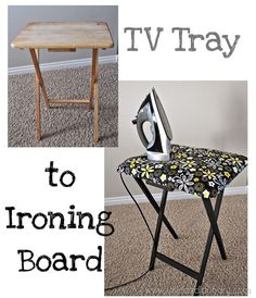 Love and Laundry | TV Tray to Ironing Board Makeover