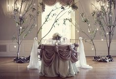 Love the swags on this sweetheart table...