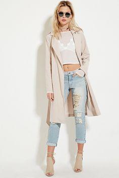 Cotton-Blend Trench Coat - Coats + Jackets - 2000180101 - Forever 21 UK