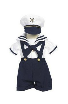Boy NAVY Sailor Suit 4 Pieces Short Set S M L XL - Baby Toddler White Navy Blue Halloween Costume Marinero - SALE on Etsy, 173,27 kr