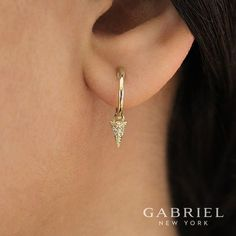 Gabriel & Co.-Voted #1 Most Preferred Fine Jewelry and Bridal Brand. Yellow Gold Drop Earrings.