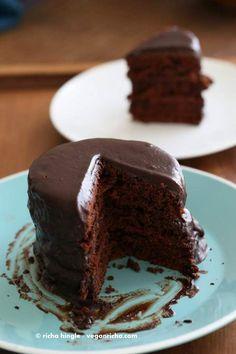 Vegan Chocolate Layer Cake | Vegan Richa