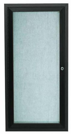 ODCC2412RBA. Outdoor Aluminum Framed Enclosed Bulletin Board. Frame is Bronze Anodized. Posting Surface is Neutral Burlap Weave Vinyl. 24″Hx12″W. 1 Door