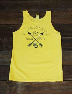 Yellow Baylor Bears, Waco, Texas, Sailor Bear tank