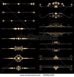 Motif Design, Border Design, Art Deco Design, Book Design, Design Elements, Pattern Design, Fuente Art Deco, Art Nouveau, Art Deco Borders