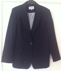 New - Womens Next Black Pinstripe Fully Lined Suit Jacket Size 16 - £14.99