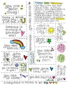 Great little notes for your students, to brighten their day!