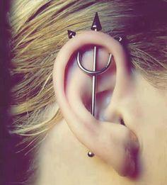 Trident ear piercing #nautical #jewelry #fashion