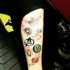 Superhero tattoo avengers tattoo                                                                                                                                                                                 More