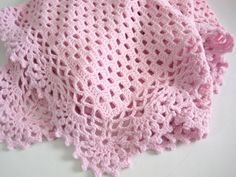 Crocheted, Baby Girl, Pink Baby Blanket, Baby Shower, Newborn, Baby Afghan on Etsy, $65.00