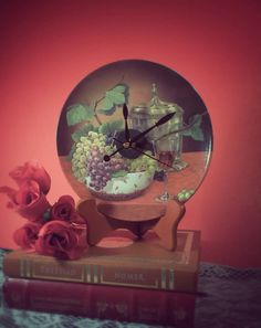 Check out this item in my Etsy shop https://www.etsy.com/listing/227281187/handmade-china-plate-clock-wine-glass