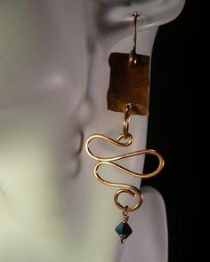 Hammer and Anvil Copper Earrings by sharronwesteren on Etsy, $23.00  SOLD