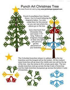 Snowflake Punch Art Tree instructions