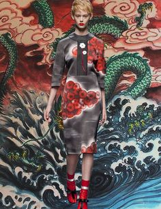 Prada S/S 2013 Chinese Dragon Painting by Deng Wei Wei
