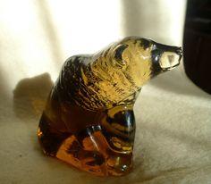 Sweden Kosta Boda Paul Hoff art glass figurine Bears WWF animals limited 4 inch #KostaBoda #PaulHoff