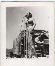 Marlene Dietrich during USO tour 1944-45