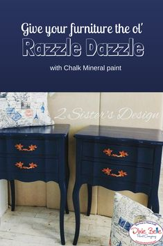 Chalk mineral paint can create the razzle dazzle! Shop Dixie Belle Paint to design your own furniture pieces. #dixiebellepaint #bestpaintonplanetearth #chalklife #homedecor #doityourself #diy #chalkmineralpaint #chalkpainted #easypeasypaint #makingoldnew #whybuynew #justpainting #paintedfurniture