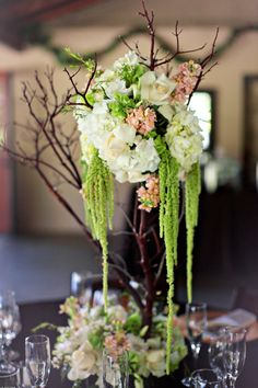 perfectly balanced centerpieces between rustic and beautiful!