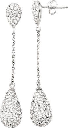 Clear Bellarosa crystal fashion drop earrings from Fred Meyer Jewelers, $75.