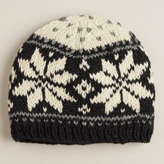 One of my favorite discoveries at WorldMarket.com: Black and Ivory Fairisle Wool Hat