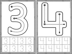 Letter Formation: Alphabet and Number Formation Cards Preschool Number Worksheets, Teaching Numbers, Preschool Writing, Numbers Preschool, Preschool Learning Activities, Preschool Printables, Preschool Lessons, Kindergarten Activities, Kids Learning