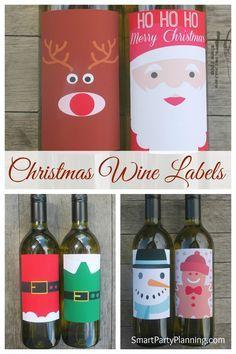 Printable Wine And Gift Tags Christmas And Holiday Wine Tags For