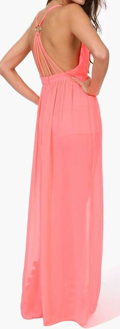 Coral Backless Maxi Jumper ♥