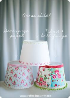 DIY:: Easy Shabby Chic Lampshades !