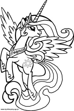 My Little Pony - Princess Celestia - coloring sheets