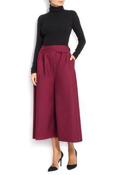 Picabu | Fusta pantalon din lana  | WE LOVE COUTURE