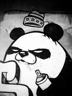 Street Art - I'm a panda! Love Art? Check https://www.etsy.com/shop/urbanNYCdesigns?ref=hdr_shop_menu