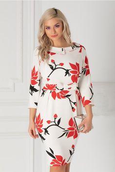 30 Modele de Rochii cu Imprimeuri | Rochii, Shopping Business Dresses, Cold Shoulder Dress, Couture, Floral, Clothes, Shopping, Women, Fashion, Clothing