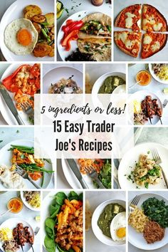 You'll want to run out to the nearest Trader Joe's to stock up on these ingredients that turn everyday trader joe's ingredients into an easy trader joe's meal! dinner trader joes 15 Easy Trader Joe's Recipes - My Everyday Table Trader Joes Vegetarian, Trader Joes Food, Trader Joe's, Vegetarian Recipes, Trader Joe Meals, Trader Joes Pizza Recipe, Cheap Clean Eating, Clean Eating Snacks, Easy Healthy Recipes