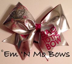 "Bad to the Bow 3"" Cheer Bow on Etsy, $15.00"
