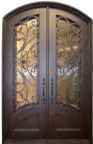 "Sydney Double Wrought Iron Entry Door 61.5"" x 81"" (Custom Designs Available)"